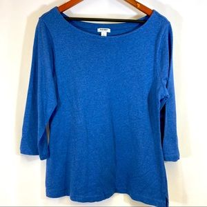 Old Navy three quarters sleeves blouse Sz L G